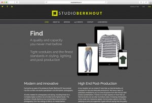website screenshot en link van Studio Berkhout